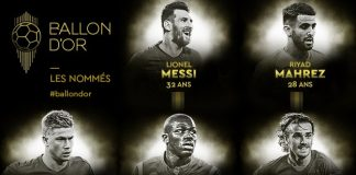 Ballon d'Or shortlist for award