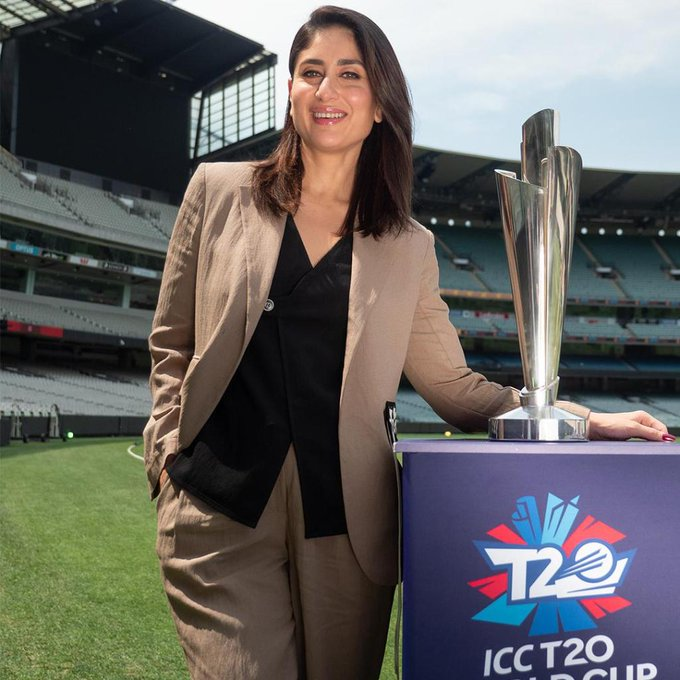 Kareena Kapoor Unveils 2020 ICC T20 World Cup Trophies