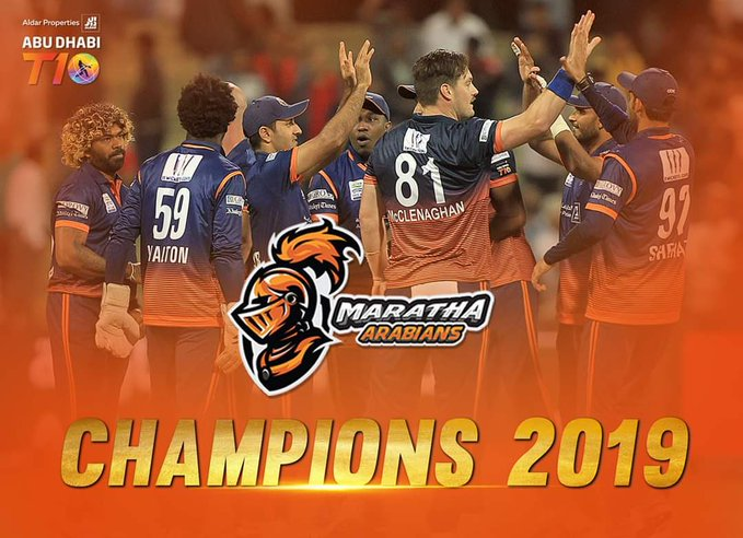 Maratha Arabians won the 2019/20 Abu Dhabi T10