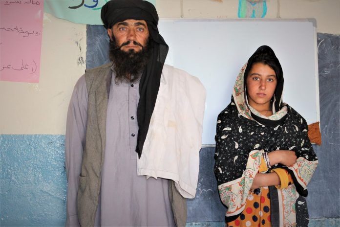 Mia Khan travels 12 kilometers motorbike to get his daughters