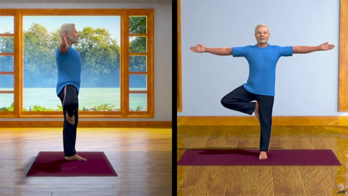 Narendra Modi yoga fitness video