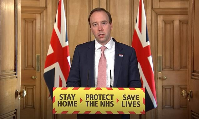 Matt Hancock, UK health secretary