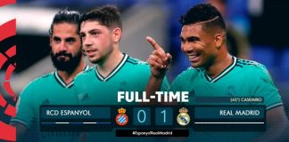 real madrid beat espaneol 1-0